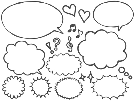 Hand drawn speech bubble set