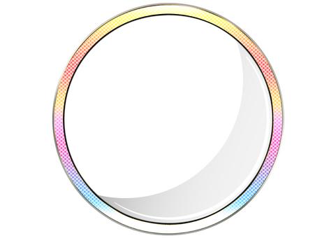 Shiny rainbow circular frame round frame