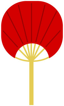 Red fan vector