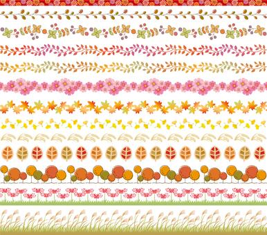 Fall decorative ruling set 1