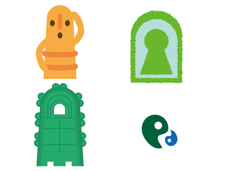 歴史素材 古墳、埴輪、銅鐸、勾玉