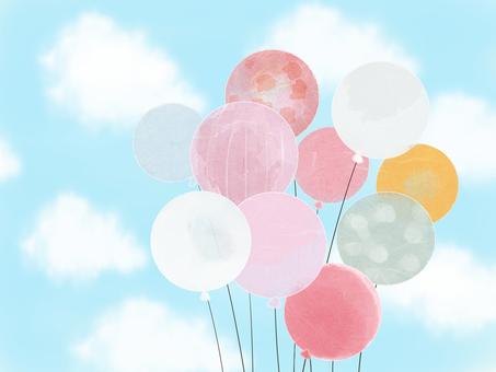 氣球和藍天