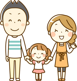 Family (family of 3) _ whole body