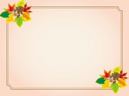 가을 프레임 낙엽