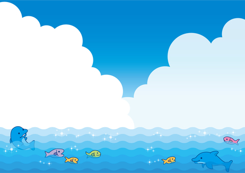The background of the sea and fish