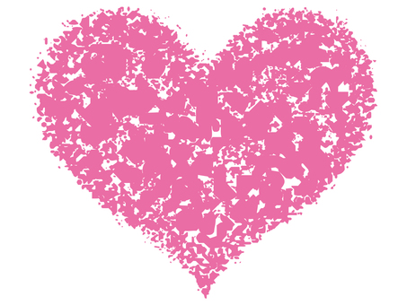 Stamp Heart _ Pink _ cs