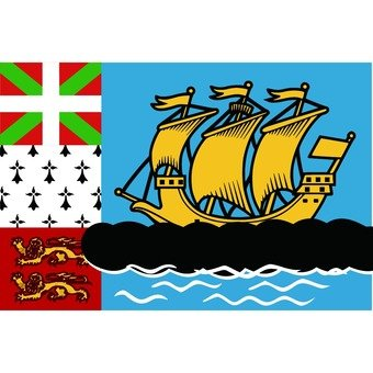 Flag of St. Pierre and Miquelon Island