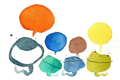 Snake illustration with balloon