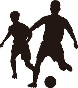 Football silhouette match up