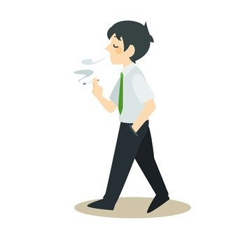 Walking cigarette