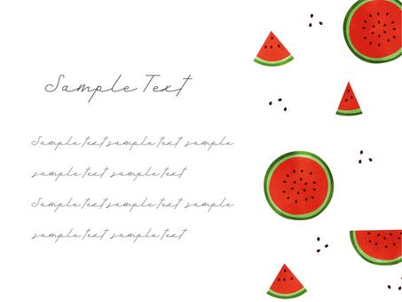Watermelon Postcard 04