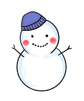 Snowman blue hat