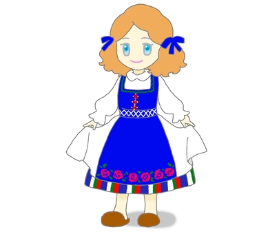 Girl in national costume style
