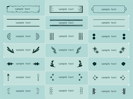 Set of decorative subheadings