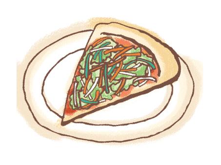 Salad pizza
