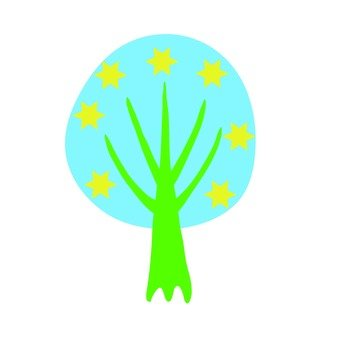 Scandinavian tree (blue, circle)
