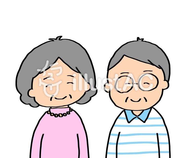 ご年配夫婦敬老の日可愛い手描きイラスト No 1168164無料
