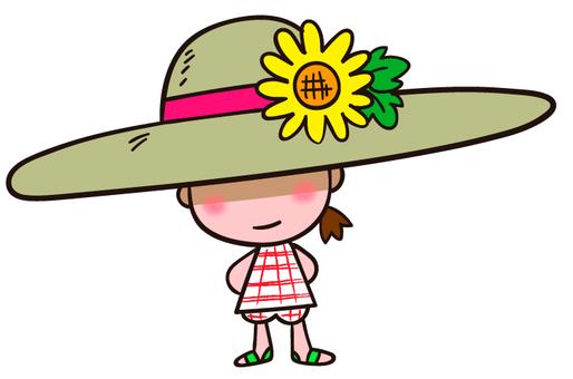 Avoid hot summer sunlight Straw hat