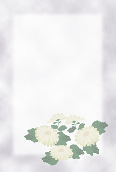 Chrysanthemum mourning postcard design