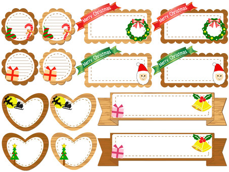 Christmas board frame set