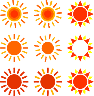 Illustration cut of sun / no line