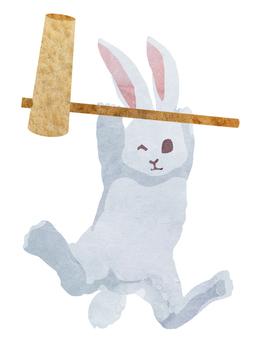 Watercolor character rabbit (kine)