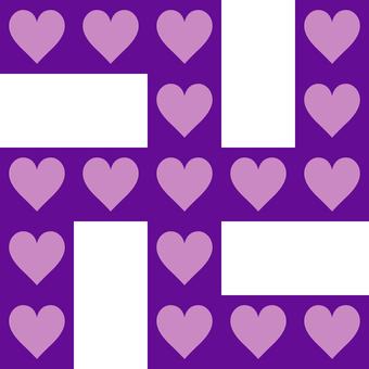 Swastilla heart _ purple