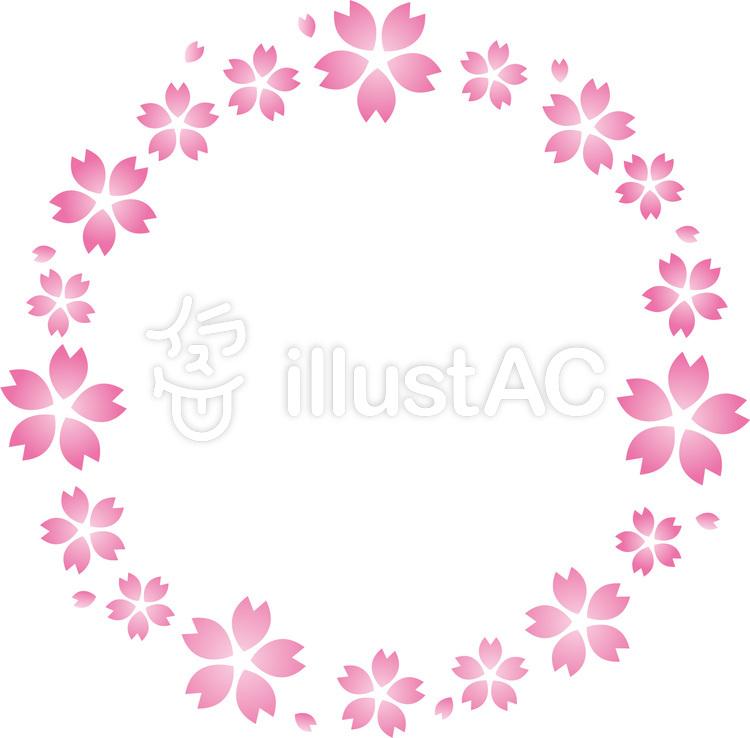 春の桜の花びらフレーム桜の花びらの輪イラスト No 1387715無料