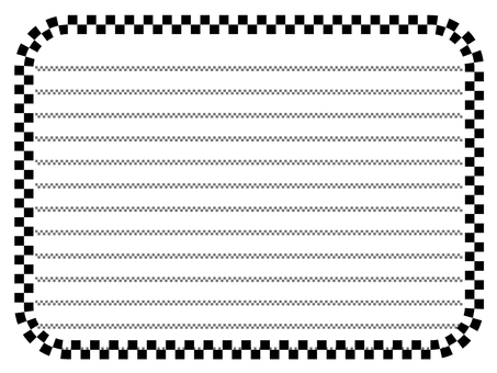 Black and white paper stationery