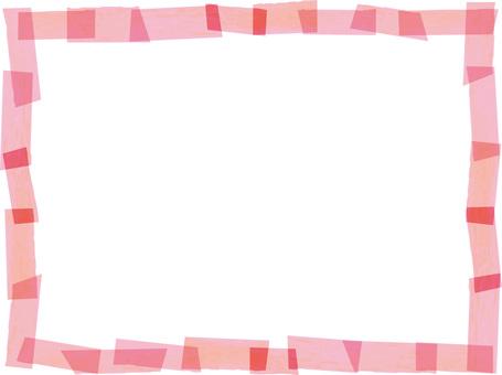 ピンクマスキングテープフレーム枠春色素材