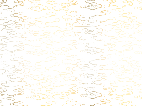 Abstract wave pattern on white background Gold 2