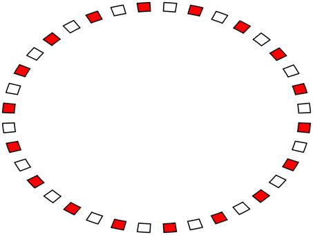 Elliptical frame Simple decorative frame material illustration