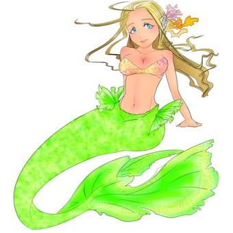 Mermaid Light Green