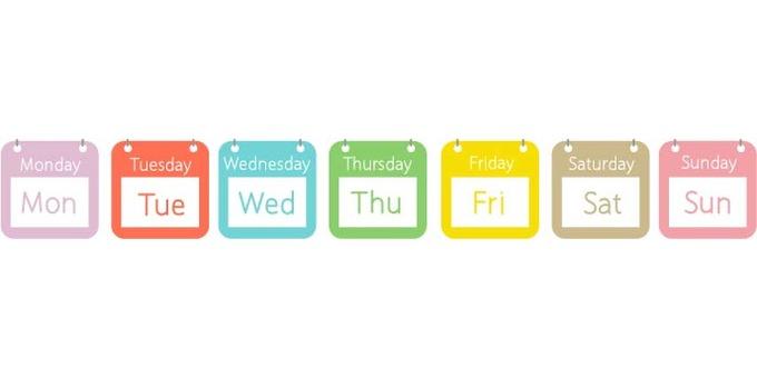 English week a week