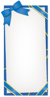 Vertical ribbon frame (blue)