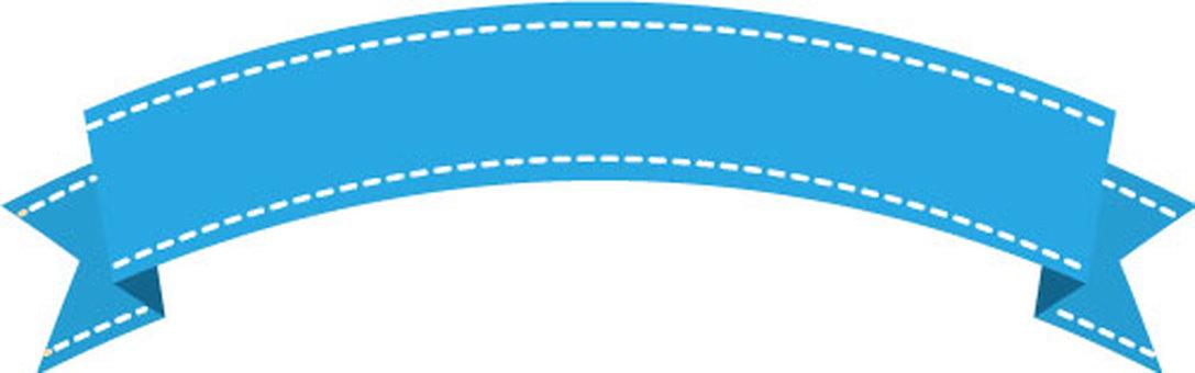 Ribbon frame small (light blue)