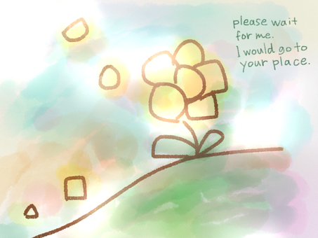 Illustration of a dandelion with a message
