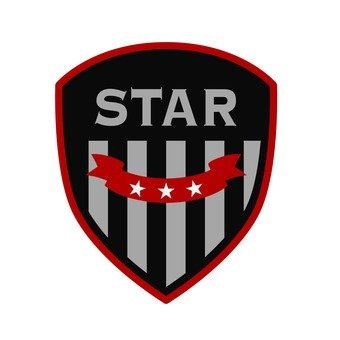 Patch - STAR (silver)