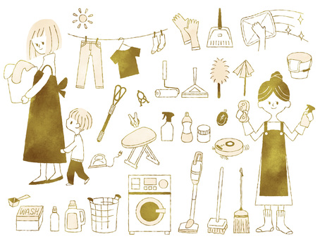 Cleaning washing set