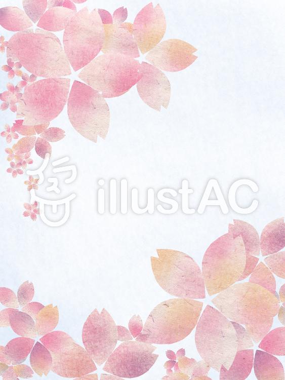 【フリーイラスト素材】和柄風桜の花2
