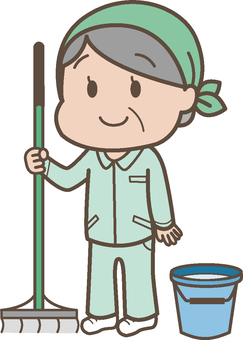 Cleaning staff female senior