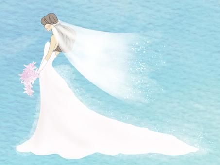 花嫁さん・ブルー