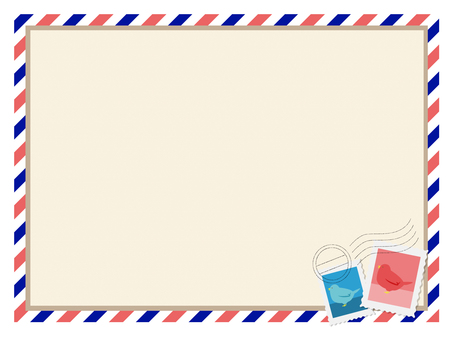 Air mail style decorative frame