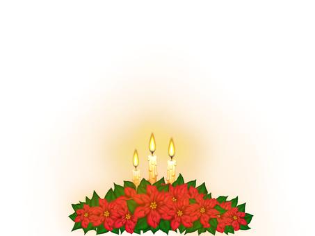 포인세티아와 촛불