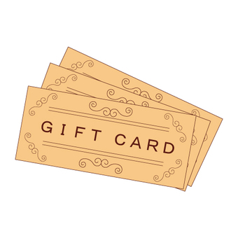 Gift cards (3 cards)
