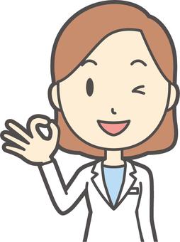 年輕的醫生女人-046胸圍