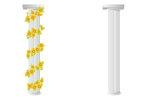 Cylinder and sunflower 2