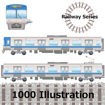 Commuter train series 1000 Keio Line Inokashira Line