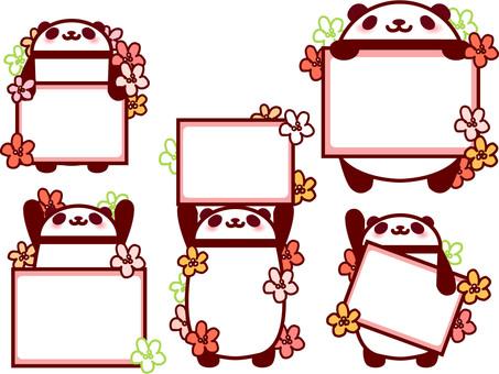 Panda Frame full of flowers