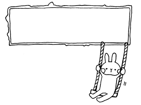 Rabbit frame and swing 1 1
